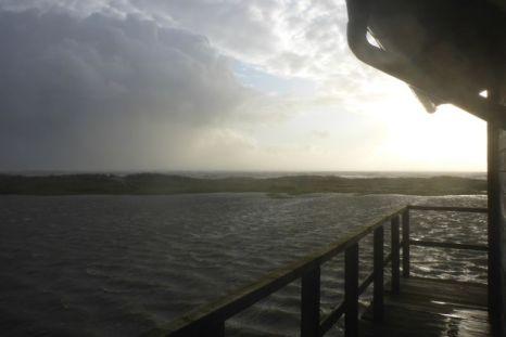 Dünenübergang im Wasser (Foto: Tore J. Mayland-Quellhorst).
