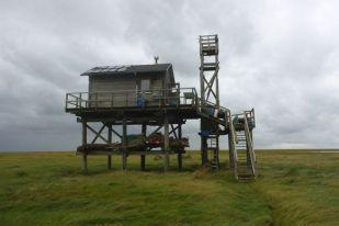 Hütte nach dem Sturm (Foto: Tore J. Mayland-Quellhorst).