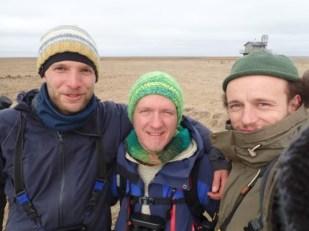 Drei Vogelwart Generationen: Benjamin Gnep (2014), Tore Mayland-Quellhorst (2017), Jonas Kotlarz (2018) (Foto: Tore Mayland-Quellhorst)