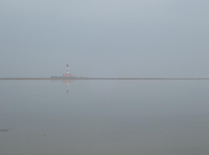 Blick auf den Leuchtturm Westerhever (Foto: Jonas Kotlarz)