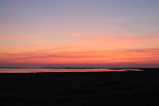 der letzte Sonnenaufgang auf Trischen für mich (Foto: A de Walmont)
