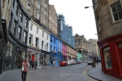 Edinburgh's architecture on Victoria Street.