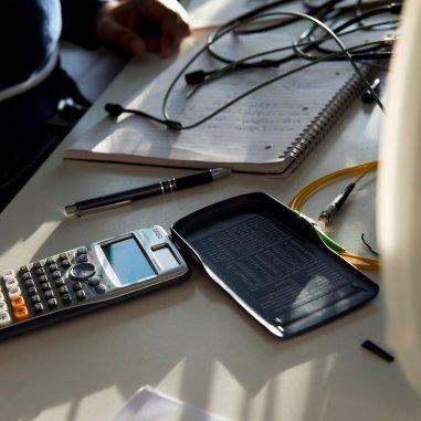 Scientific calculator in exam