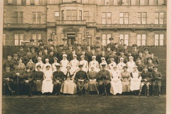 Craiglockhart War Hospital (old Hydropathic Hotel) photographs of Staff and patients