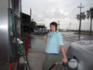 Heidi at Gas Station