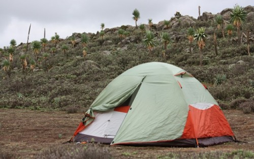 My tent in the Sodota plateau