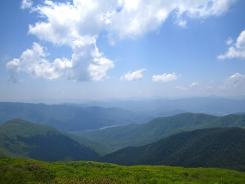 The Blue Ridge Mountains. Before the onset of air pollution, you could see miles farther than this!