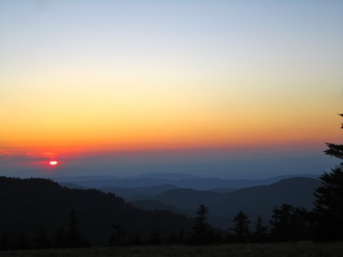 Sunset from Round Bald.