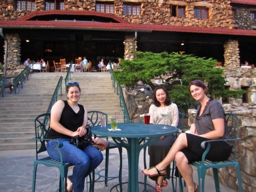 Liz, Chongyang and Maura ending the day in style.