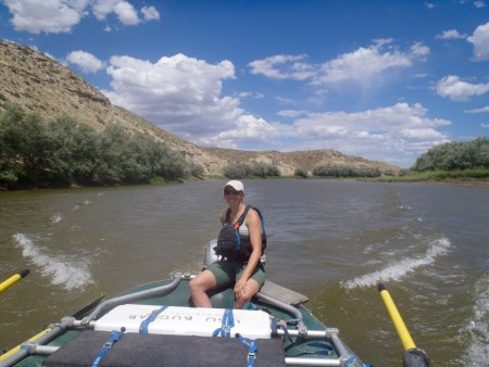 Motoring on the Yampa allowed us to make good time through 12 miles of head winds and sample the entire reach