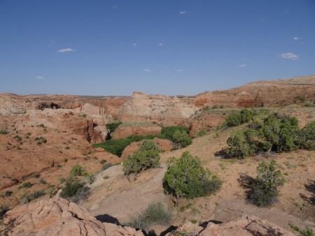 Overlooking the Escalante River before descending via a drainage we discovered