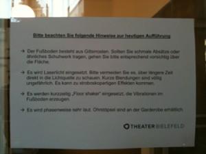 Zu Risiken und Nebenwirkungen fragen Sie das Theater Bielefeld