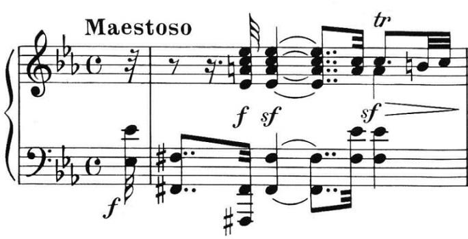 Beethoven op. 111 - 1. Satz - Takt 1