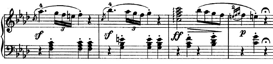 Beethoven op. 2 Nr. 1 - 1. Satz - Takt 3