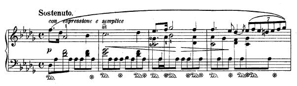 Ausschnitt aus Chopins 'Regentropen-Prélude' - Teil I