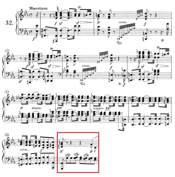 Beethoven op. 111 - 1. Satz - Takt 11