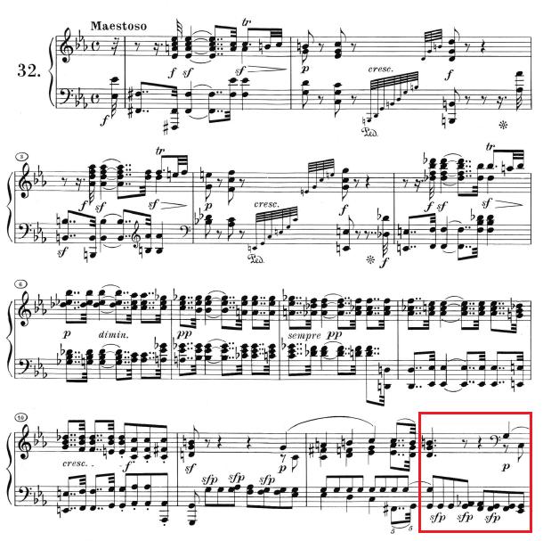 Beethoven op. 111 - 1. Satz - Takt 13