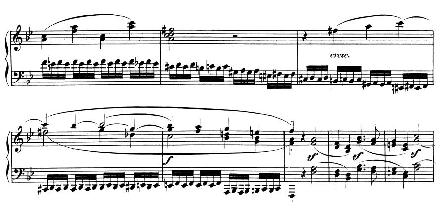 Tiefe Triller - Ausschnitt aus Beethovens 11. Sonate