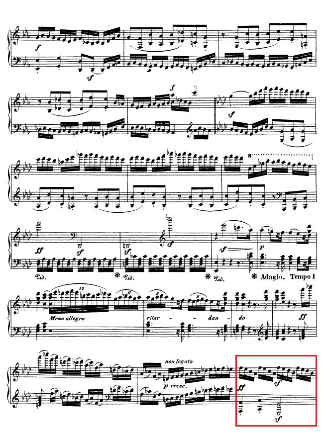 Beethoven op. 111 - 1. Satz - Takt 58