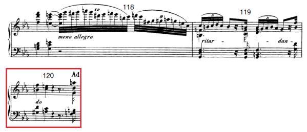 op. 111 – Eine Analyse in 335 Teilen – Takt 120 (Adventskalender, Türchen Nr. 11)