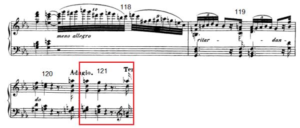 op. 111 – Eine Analyse in 335 Teilen – Takt 121 (Adventskalender, Türchen Nr. 12)