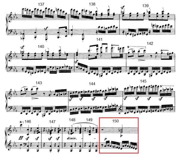 op. 111 – Eine Analyse in 335 Teilen – Takt 150