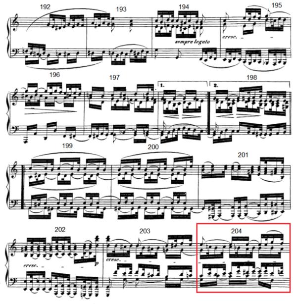 op. 111 – Eine Analyse in 335 Teilen – Takt 204