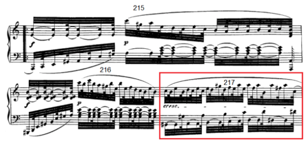 op. 111 – Eine Analyse in 335 Teilen – Takt 217