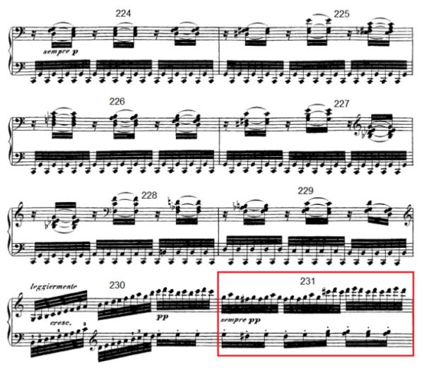 op. 111 – Eine Analyse in 335 Teilen – Takt 231