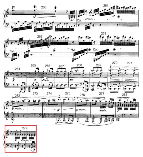 op. 111 – Eine Analyse in 335 Teilen – Takt 279
