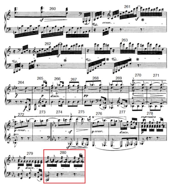 op. 111 – Eine Analyse in 335 Teilen – Takt 280
