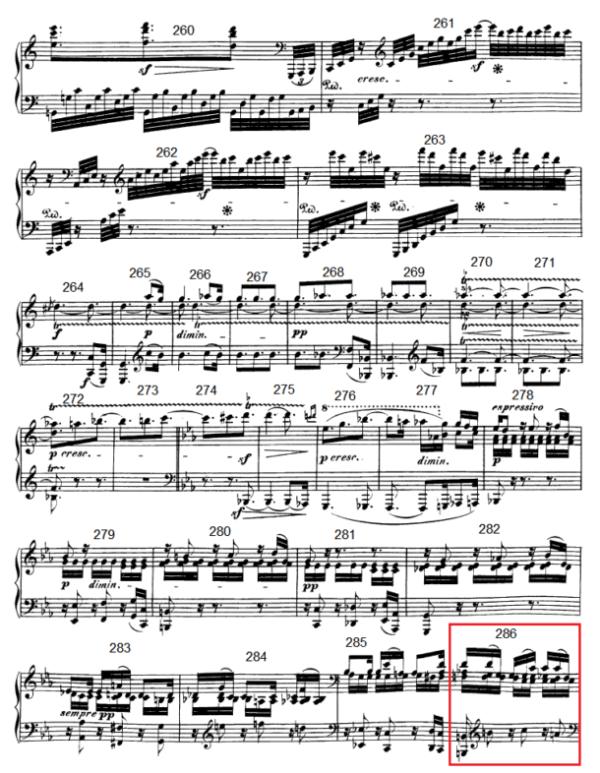 op. 111 – Eine Analyse in 335 Teilen – Takt 286