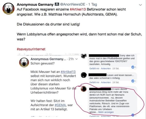 Anonymous Germany – Willkommen im Netz der Diffamierung!