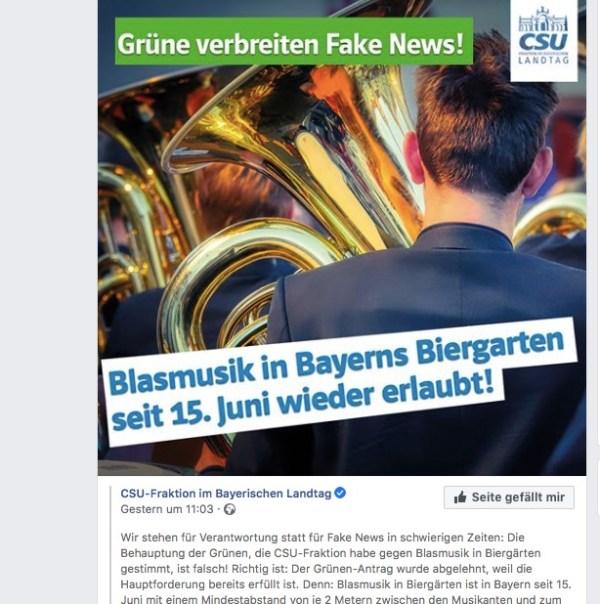 Fake-News-Kampagne der CSU gegen den Biergartenkulturantrag der Grünen – ein Kommentar