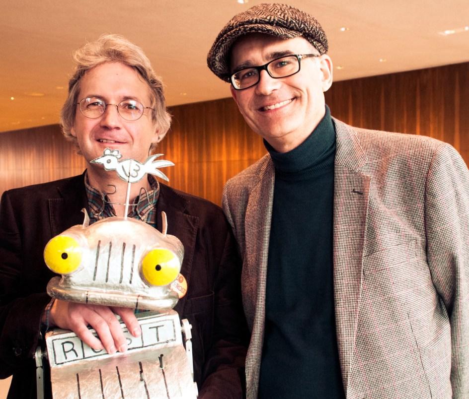 Opfer des Buchhandels vor 20 Jahren: Jörg Hilbert und Felix Janosa beim 20 jährigen Jubiläum an der Deutschen Oper. Foto: Hufner
