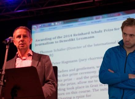 Thomas Schäfer und Johannes Kreidler. Foto: Hufner