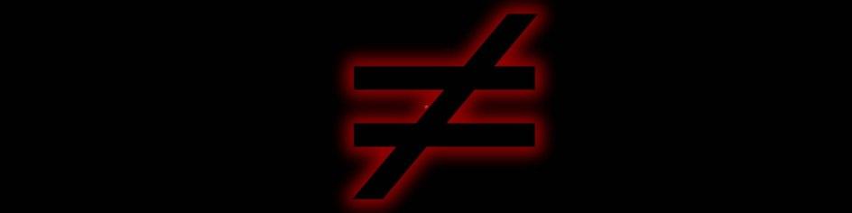 Ungleich-Vergleich-Symbol. hufi