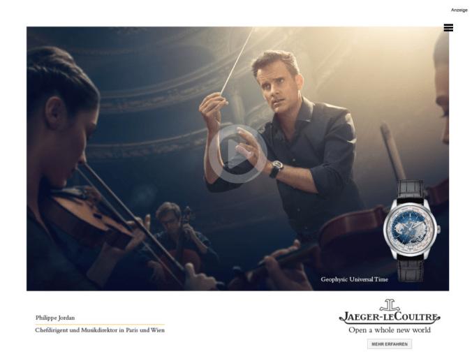 Philippe Jordan läuft die Zeit davon. Werbung.