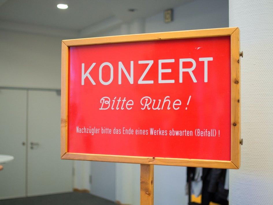 Achtung Konzert. Foto: Hufner
