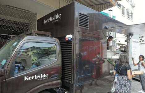 """""""Kerby"""" from Kerbside Gourmet all ready to provide food to the workers."""
