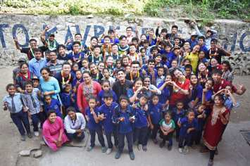 Closing Ceremony in Kavre Deaf School.