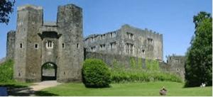 Castle of Berry Pomeroy on Dartmoor in Devon.