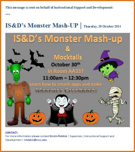 IS&Ds Monster Mash-UP 2014