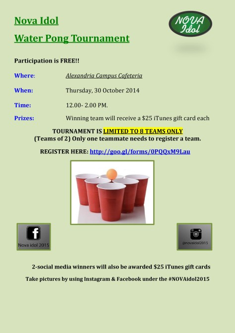 Water Pong Tournament