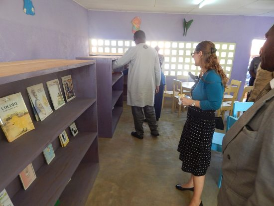 Attendees explore The Children's House library.