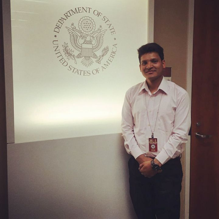 Ramesh at the U.S. Department of State