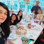 Maria Eima with her host family during Thanksgiving.