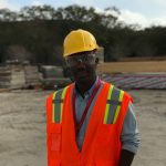 Kwame at construction site