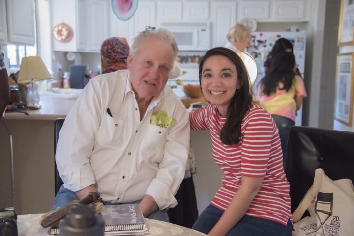 Sevilay with Don Dedera