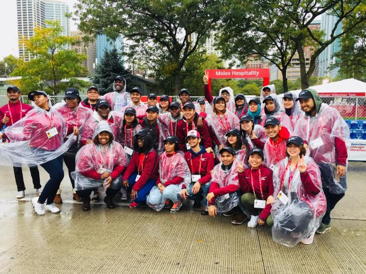 Chi Marathon volunteers